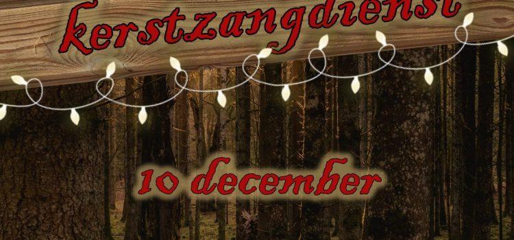 Kerstzang dienst 10 december 16.00 uur