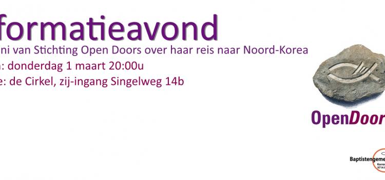 Informatieavond Stichting Open Doors Nederland